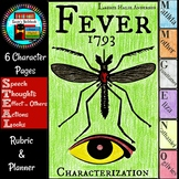 Fever 1793 Laurie Halse Anderson Character Flip Book with Growth Mindset