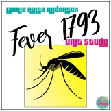 Fever 1793 by Laurie Halse Anderson study guides, journals, test
