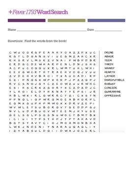 Fever 1793 word search