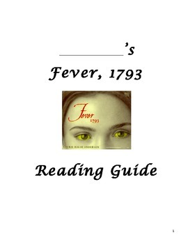 Fever Reading Guide with Questions & Vocab