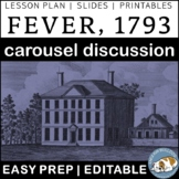 Fever by Laurie Halse Anderson Pre-reading Carousel Discussion