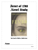 Fever of 1793 Novel Study