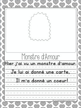 Février Poésie and Directed Drawings Valentine's Day Maternelle FRENCH