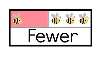 fewer more same envision math vocab word cards tpt. Black Bedroom Furniture Sets. Home Design Ideas