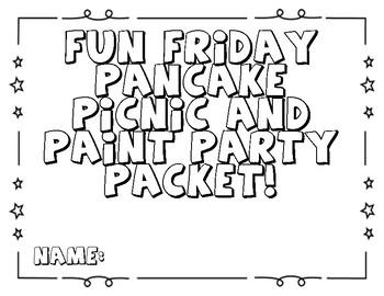 Ff & Pp Fun Friday Pancake Packet