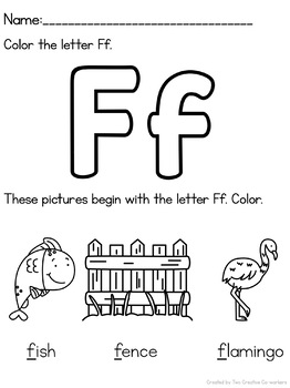 Letter F { Alphabet Practice }