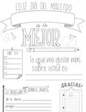 Teacher Appreciation Fill-In Spanish Printable