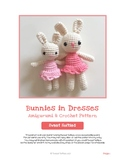 Fiber Art Craft: Bunnies in Dresses Amigurumi Crochet Anim