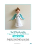 Fiber Art Craft: Christmas Angel Amigurumi Crochet Doll Pattern