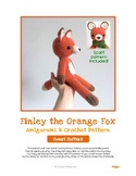 Fiber Art Craft: Finley Fox Amigurumi Crochet Stuffed Animal Toy Doll Pattern