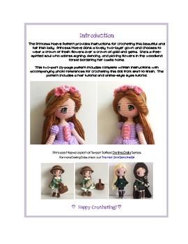 Fiber Art Craft: Waldorf Irish Fairytale Princess Amigurumi Crochet Doll Pattern