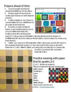 Fiber Arts for Elementary: Weaving with K-5 Students