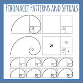 Fibonacci Spirals and Ratios Clip Art for Commercial Use