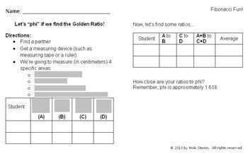 Fibonacci Worksheet