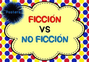 Ficción VS No Ficción Posters con características 4 modelos diferentes
