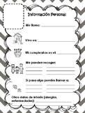 Ficha: Mi información personal/ My personal information pr