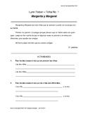 Ficha comprension lectora - Margarita y Margaret