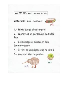 Lectura Letra W