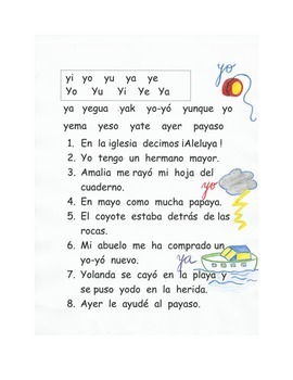 Lectura letra Y