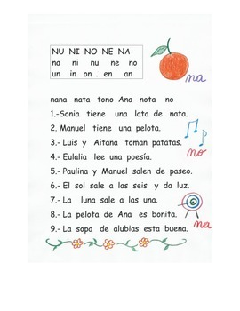 Lectura de la letra N
