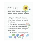 Lectura de las sílaba Ge Gi