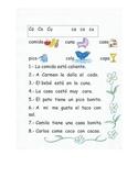 Lectura de las sílabas Ca Co Cu