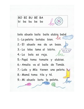 Lectura letra B