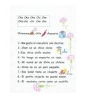 En español. Combinación de las letras Ch