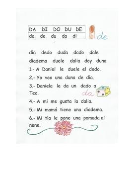 Lectura letra D
