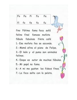 Lectura  letra F