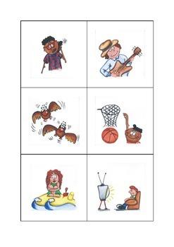 Fichas Acciones Español (Spanish Actions Flash Cards)