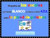 Las Vocales-Marco AZUL con fondo BLANCO