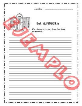 Fichas de escritura en Español. Spanish writing worksheet. Volumen 2.