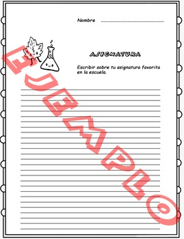 Fichas de escritura en Español. Spanish writing worksheet. PACK (100 WORKSHEETS)