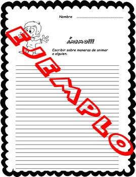 Fichas de escritura en Español. Spanish writing worksheet. Volumen 3
