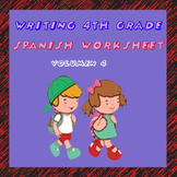 Fichas de escritura en Español. Spanish writing worksheet. Volumen 4.