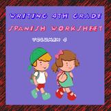 Fichas de escritura en Español. Spanish writing worksheet.