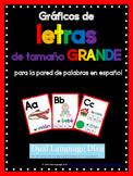 Fichas de letras de tamaño GRANDE- ROJO