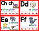 Fichas de letras para la pared de palabras-ROJO