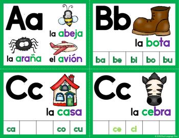 Fichas de letras para la pared de palabras-VERDE