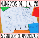 Fichas de mates. Repaso de los números 1-20. Spanish worksheets. Number sense.