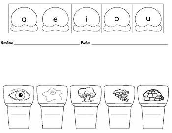 Fichas de silabas y dibujos