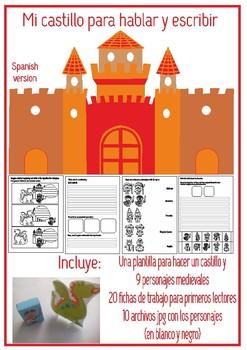 """Fichas lectoescritura """"El castillo medieval"""""""