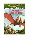 Ficha comprension lectora La casa del arbol #1 Dinosaurios