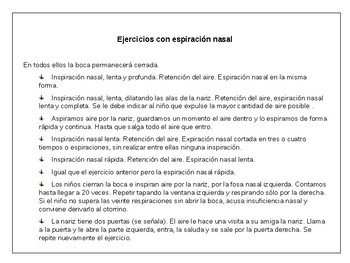 Fichas  para tratamiento del habla // Recovery sheets for speech treatment