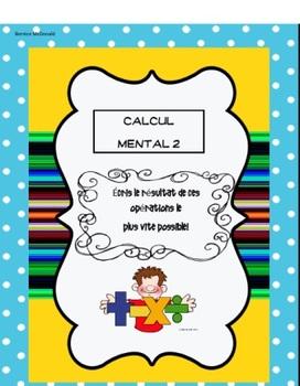 Fiches: Calcul Mental 2