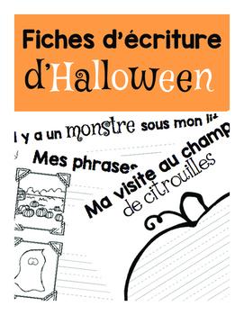 Fiches d'écriture d'Halloween