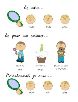 Fiches d'autorégulation Je peux me calmer! - Self Regulation Posters