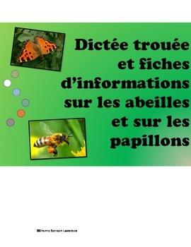 Fiches d'informations sur les abeilles et les papillons