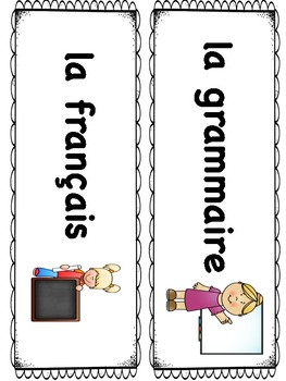 Fiches Horaire Quotidien - French Daily Schedule Cards